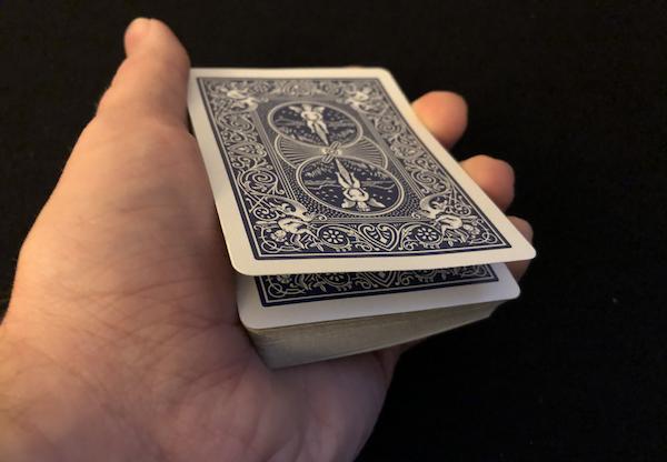 A deck of cards held in Marlo's Tilt