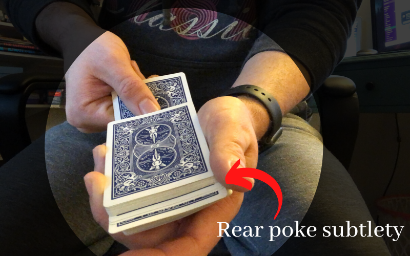 The Tilt rear poke subtlety juts cards out from the middle
