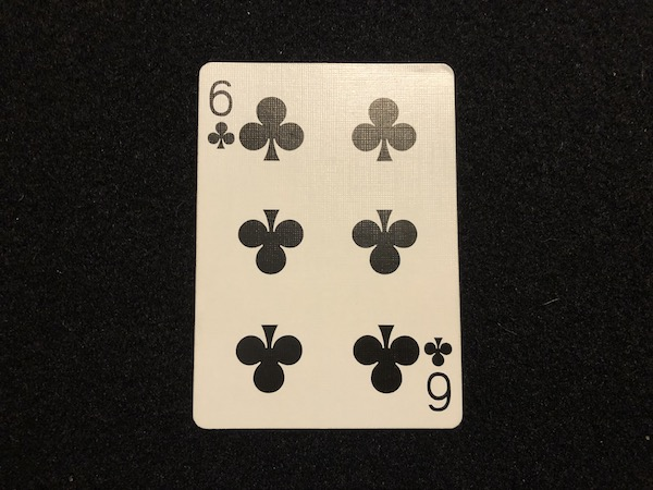 Suit and pips on playing card
